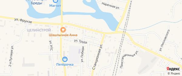 Молодогвардейская улица на карте поселка Бредов с номерами домов