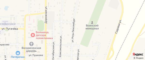 Улица Розы Люксембург на карте поселка Бредов с номерами домов