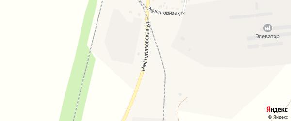 Нефтебазовская улица на карте поселка Бредов с номерами домов