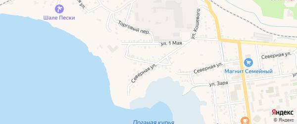 Красноармейская улица на карте Чебаркуля с номерами домов