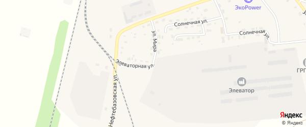 Элеваторная улица на карте поселка Бредов с номерами домов