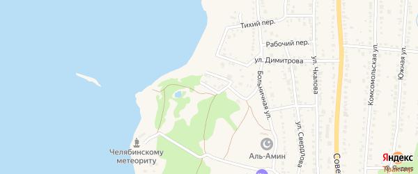 Водный переулок на карте Чебаркуля с номерами домов