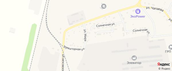 Улица Мира на карте поселка Бредов с номерами домов