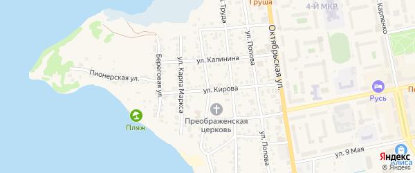 Улица Пушкина на карте Чебаркуля с номерами домов