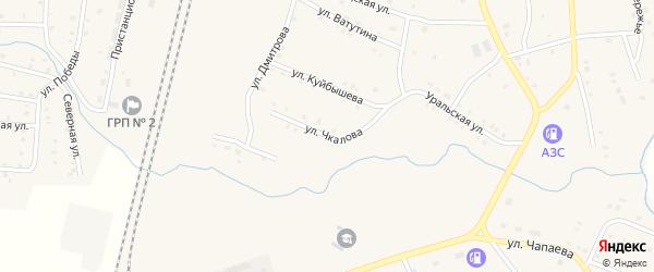 Улица Чкалова на карте поселка Бредов с номерами домов