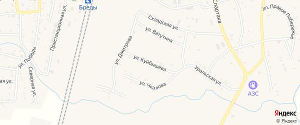 Улица Куйбышева на карте поселка Бредов с номерами домов