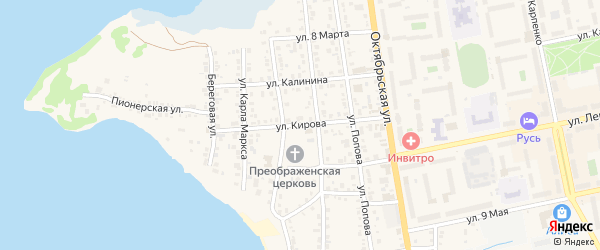 Улица Кирова на карте Чебаркуля с номерами домов