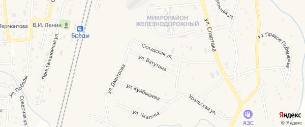 Улица Ватутина на карте поселка Бредов с номерами домов