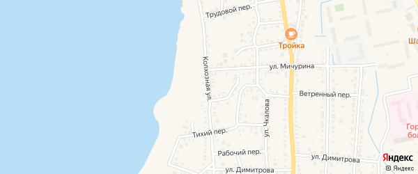 Колхозная улица на карте Чебаркуля с номерами домов