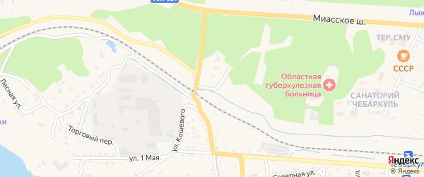 Поселок Санаторий УралВО на карте Чебаркуля с номерами домов