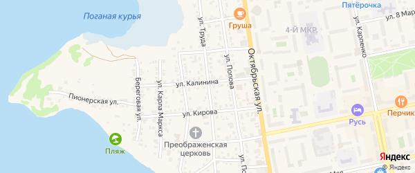 Улица Труда на карте Чебаркуля с номерами домов