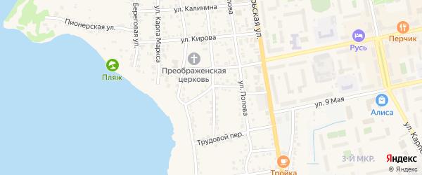 Кривой переулок на карте Чебаркуля с номерами домов