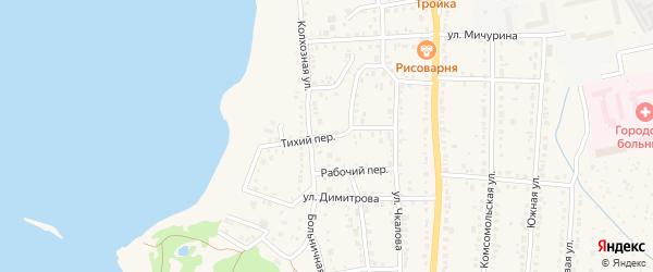 Тихий переулок на карте Чебаркуля с номерами домов