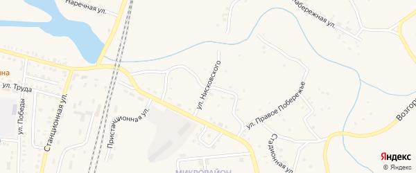 Улица Нисковского на карте поселка Бредов с номерами домов
