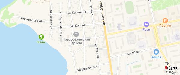 Улица Пугачева на карте Чебаркуля с номерами домов