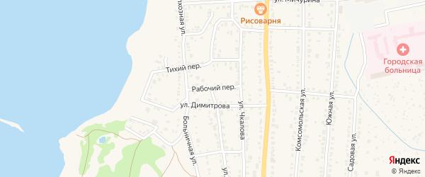 Рабочий переулок на карте Чебаркуля с номерами домов