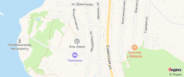 Улица Свердлова на карте Чебаркуля с номерами домов