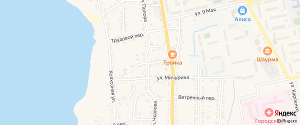 Горный переулок на карте Чебаркуля с номерами домов