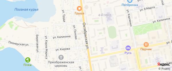 Октябрьская улица на карте Чебаркуля с номерами домов