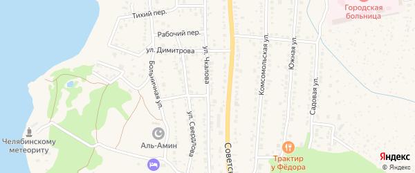 Улица Чкалова на карте Чебаркуля с номерами домов