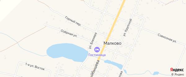 Улица Блюхера на карте деревни Малково с номерами домов