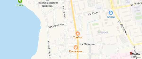 Огородный переулок на карте Чебаркуля с номерами домов