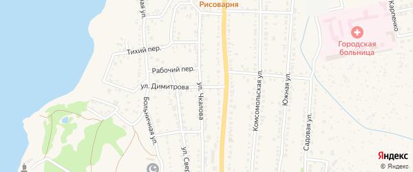 Улица Димитрова на карте Чебаркуля с номерами домов
