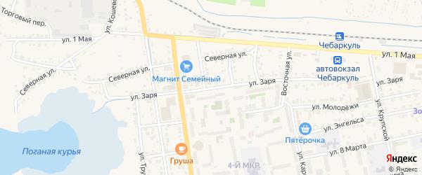 Улица ГПК Заря на карте Чебаркуля с номерами домов