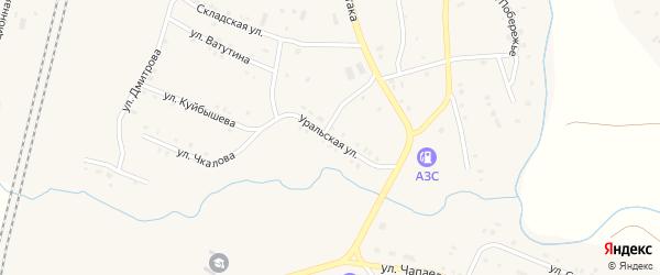 Уральская улица на карте поселка Бредов с номерами домов