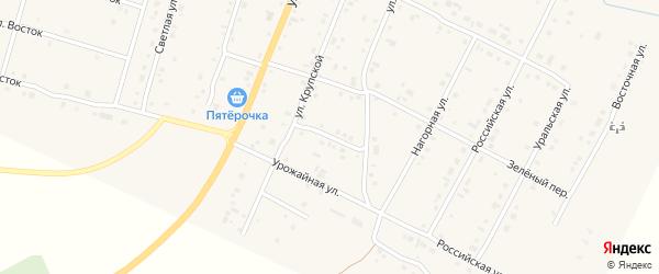 Улица Труда на карте деревни Малково с номерами домов