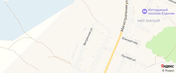 Ветренная улица на карте деревни Малково с номерами домов