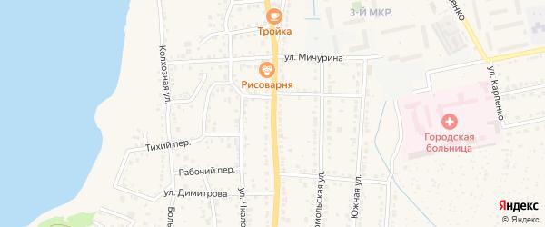 Советская улица на карте Чебаркуля с номерами домов