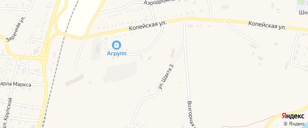 Улица Шахта 3 на карте поселка Бредов с номерами домов