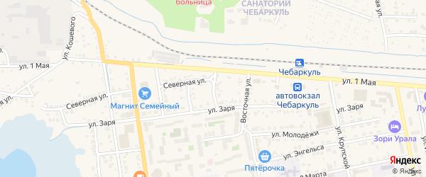 Пролетарская улица на карте Чебаркуля с номерами домов