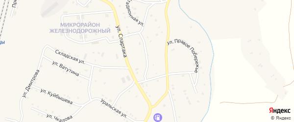 Стадионная улица на карте поселка Бредов с номерами домов
