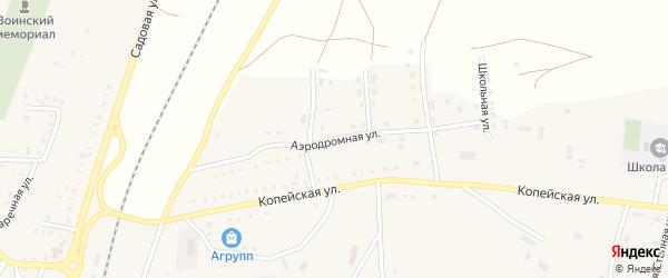 Аэродромная улица на карте поселка Бредов с номерами домов