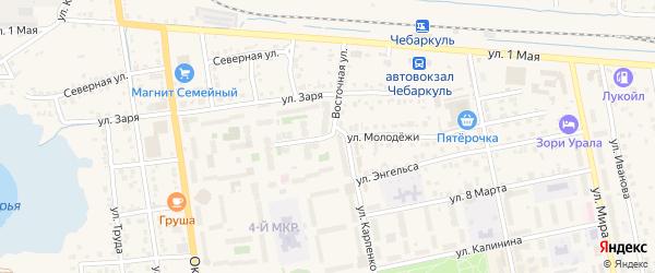 Улица Молодежи на карте Чебаркуля с номерами домов
