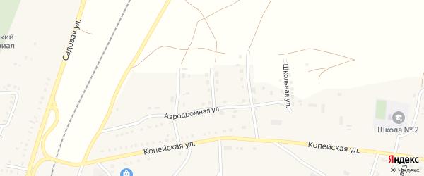 Улица Автомобилистов на карте поселка Бредов с номерами домов