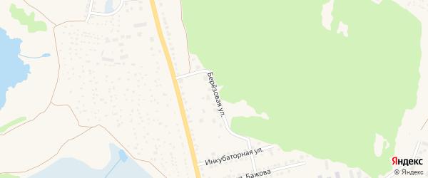 Березовая улица на карте Чебаркуля с номерами домов