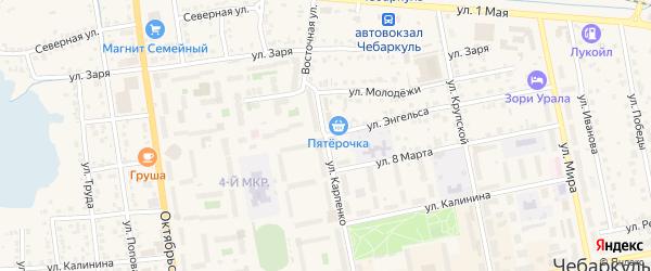 Улица Энгельса на карте Чебаркуля с номерами домов
