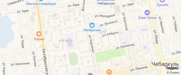 Улица 8 Марта на карте Чебаркуля с номерами домов