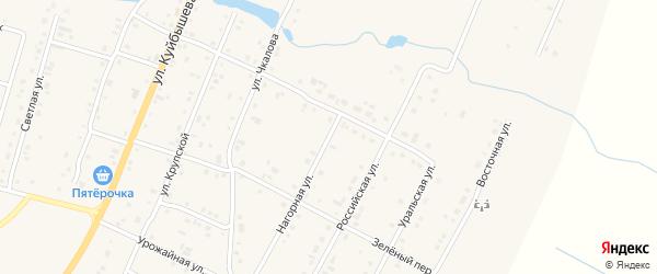 Нагорная улица на карте деревни Малково с номерами домов