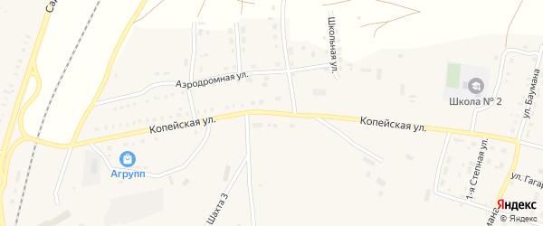 Копейская улица на карте поселка Бредов с номерами домов