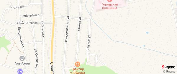 Садовая улица на карте Чебаркуля с номерами домов