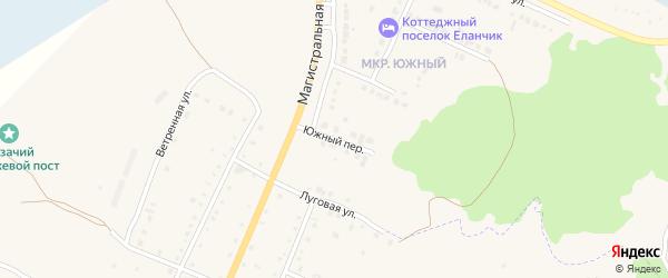Южный переулок на карте Чебаркуля с номерами домов