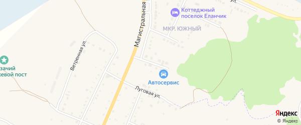 Южная улица на карте деревни Малково с номерами домов