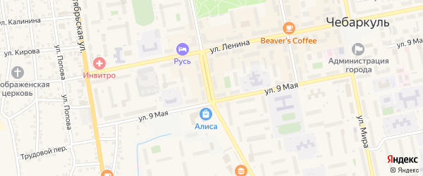 Улица Карпенко на карте Чебаркуля с номерами домов