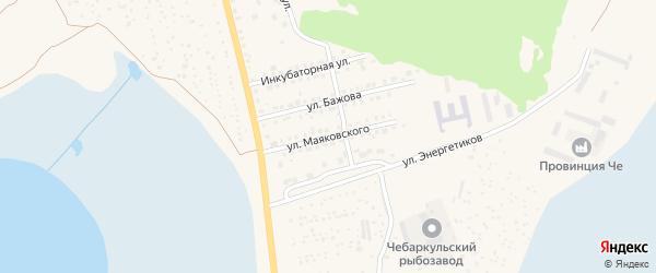 Улица Маяковского на карте Чебаркуля с номерами домов