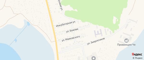 Улица Бажова на карте Чебаркуля с номерами домов