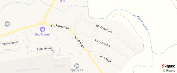Улица Чапаева на карте поселка Бредов с номерами домов